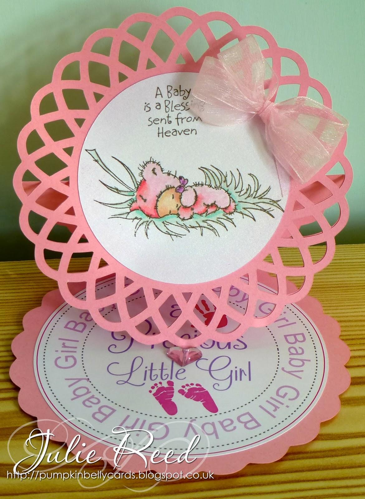 Pumpkin Belly Cards: Sweet Baby Girl