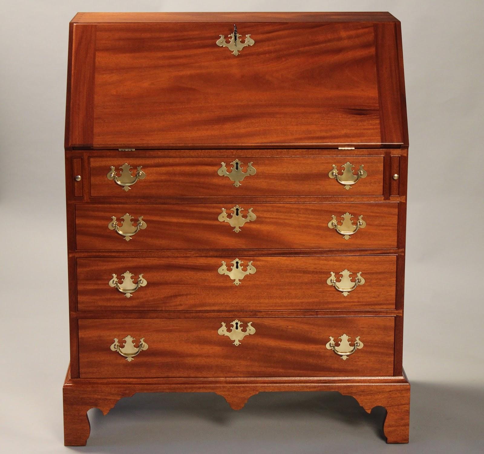 mahogany slant front desk