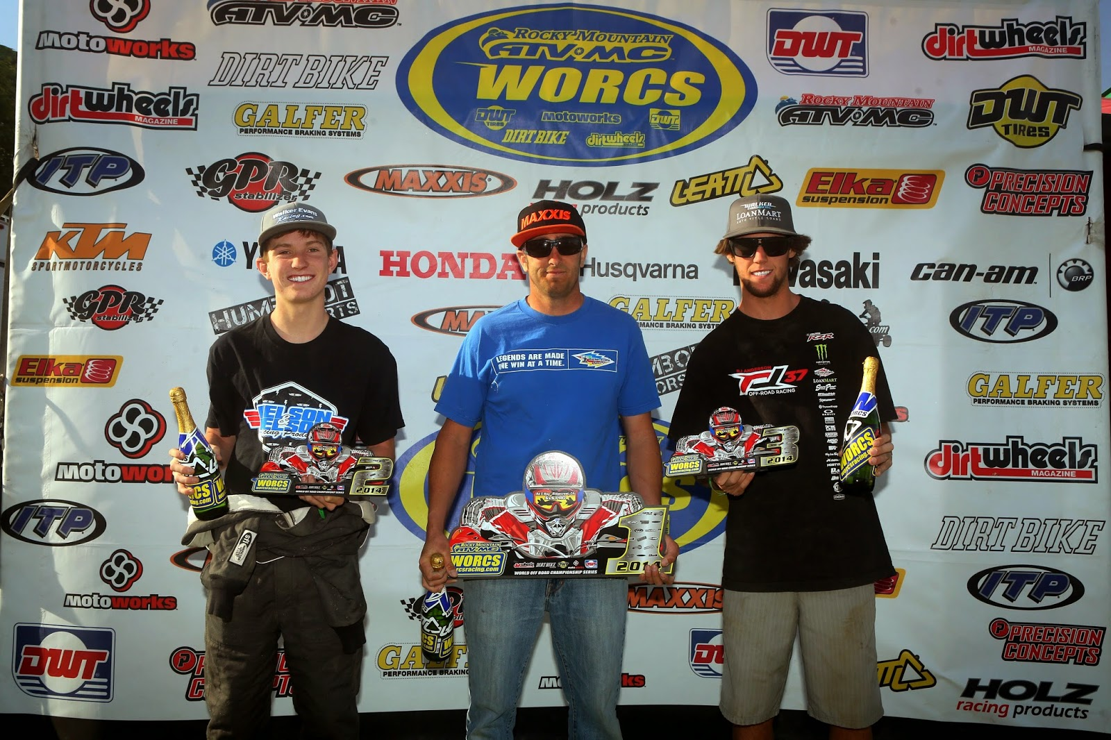 WORCS Round 5 Podium at Ridgecrest