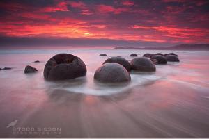 moeraki boulders Pemandangan Terindah di Dunia