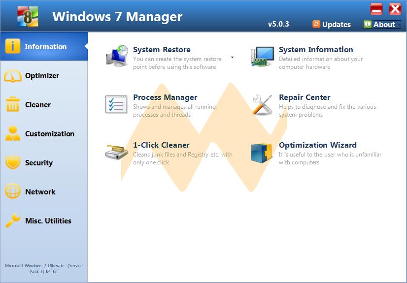 Windows 7 Manager v5.0
