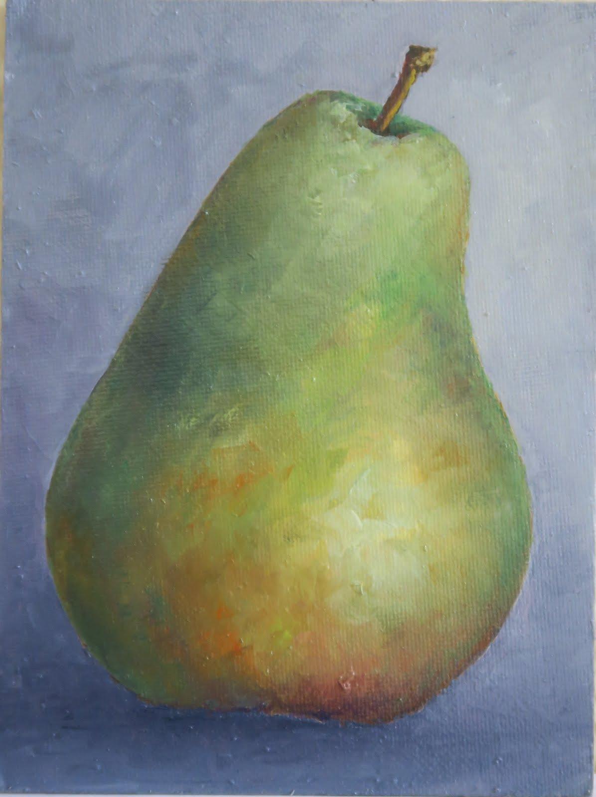 Una pera (16x12 cm)