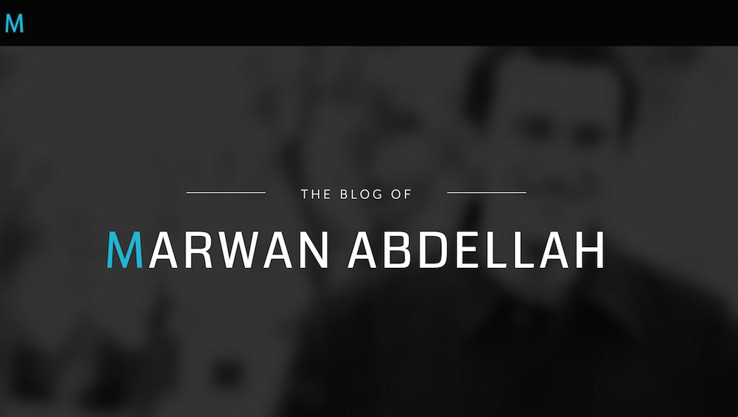 Marwan Abdellah's Blog