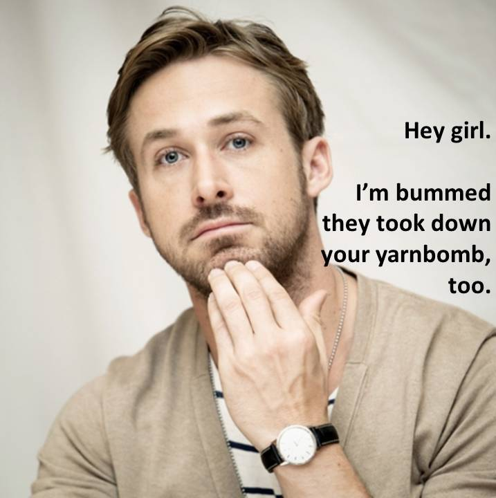 Ryan Gosling Knitting Meme : The ugly sweater hey girl
