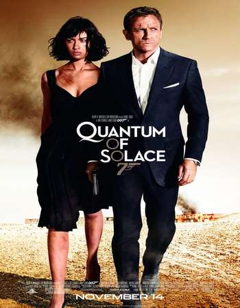 Poster Of Quantum of Solace 2008 Dual Audio 150MB  HEVC Mobile  Free Download Watch Online Worldfree4u