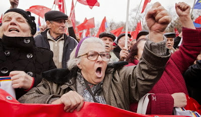 Manifestación Moldavia