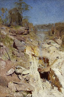 Fire's On - Arthur Streeton painting