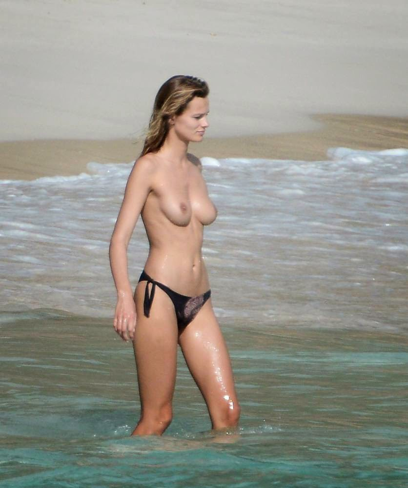 Edita Vilkeviciute Topless And Naked Candids With A Topless Girfriend On Beach In St. Barts