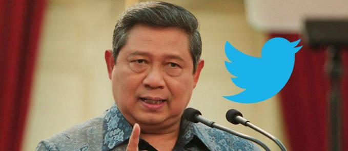 Ternyata twitter Presiden SBY nomor satu di Asia