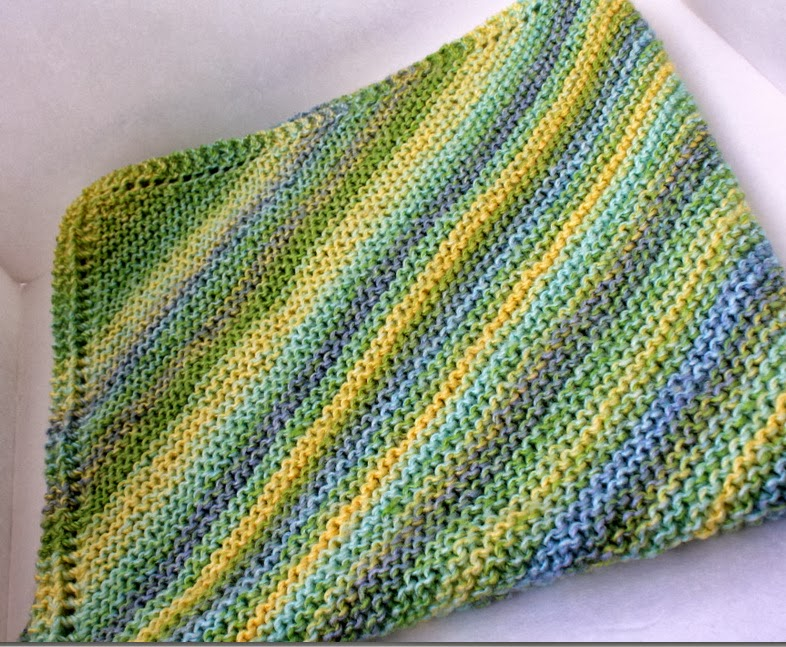 Baby Blanket Knitting Pattern Easy : Taylor Stamped: Simple Knit Baby Blanket