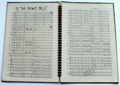 an example of an orchestra score in Frank Zappa's own manuscript - Tuna Sandwich Ballet