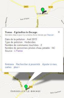 Pollution de l'eau potable à Égriselles-le-Bocage et Cornant dans l'Yonne