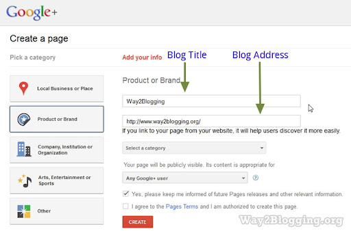 How to Create Google+ (Plus) Fan Page for Your Blog