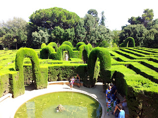 Barcelona Sights - View of Centre of Maze