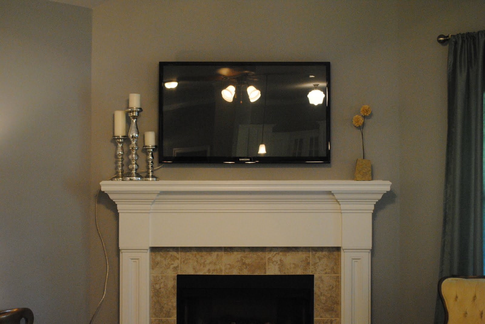 Tv Over Fireplace Ideas Where Is Cable Box Ask Home Design