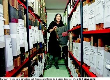Foto de la directora del Archivo del Reino de Galicia. Entrevista. La Voz de Galicia