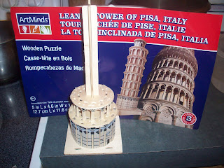 wooden leaning tower of pisa