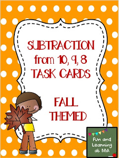 https://www.teacherspayteachers.com/Product/Subtraction-Facts-Task-Cards-Fall-Themed-1518511