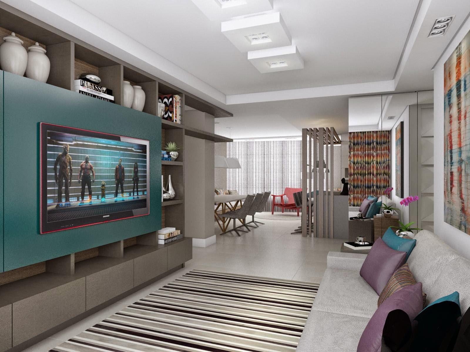 Ilto Gerber: Projeto de Interior Sala de Estar / Jantar / Cozinha #3A5752 1600 1200