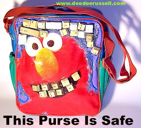 Tickle ME, Elmo! This Handbag Art is SAFE AND 50 PERCENT OFF!