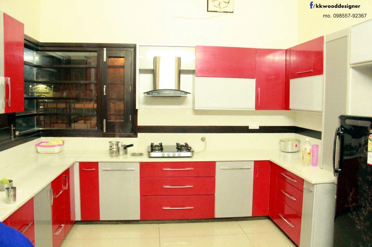 K k wood design namol sangrur fines wooden intrior kitchen design made by k k wood designer Kitchen design in punjab