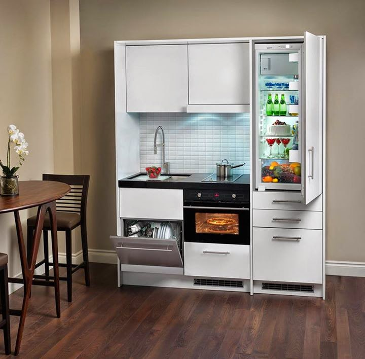 Compact kitchen for Small dishwashers for small kitchens