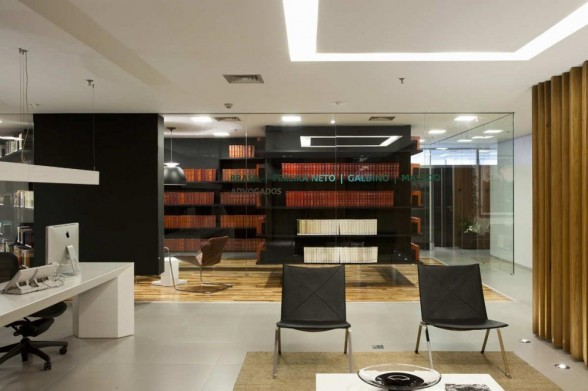 Bpgm law office design by fgmf arquitetos architecture of for Interior design law office
