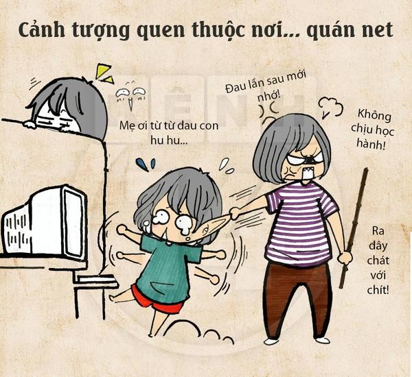 Truyện tranh hài thời chat chit tiệm net 5