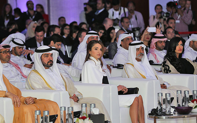 Queen Rania opens Abu Dhabi Media Summit 2014