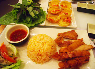 grilled chicken rice from wrap & roll