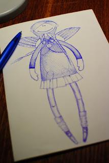 эскиз куклы