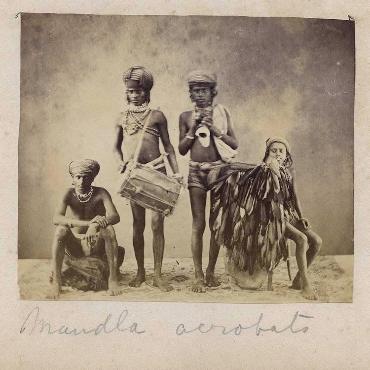 Mandla Acrobats - Albumen Print, c1870's