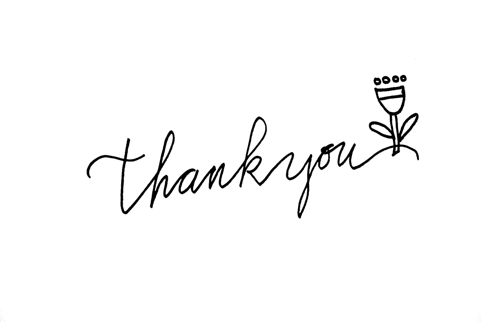 Line Art Thank You : Lettering thank you iby lippold haushaltstipps