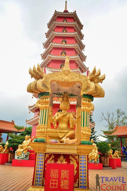Tower at Sha Tin Golden Buddha