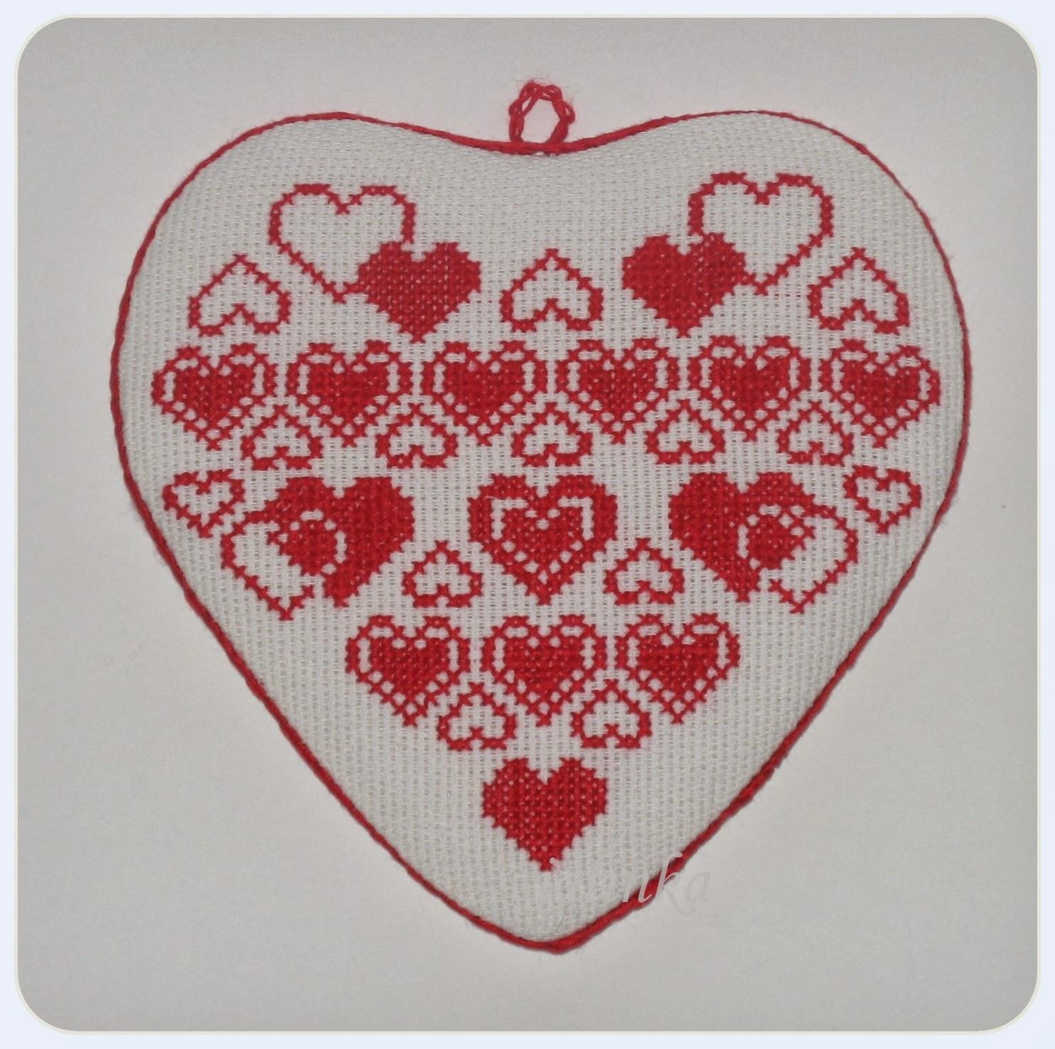 вышивка ко дню святого валентина вышивка сердце