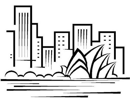 Dibujos de edificios faciles  Imagui