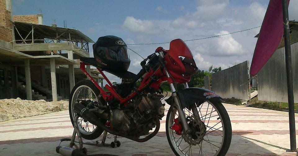 Bikin Motor Balap Jupiter MX Blok Head Scorpio Riau