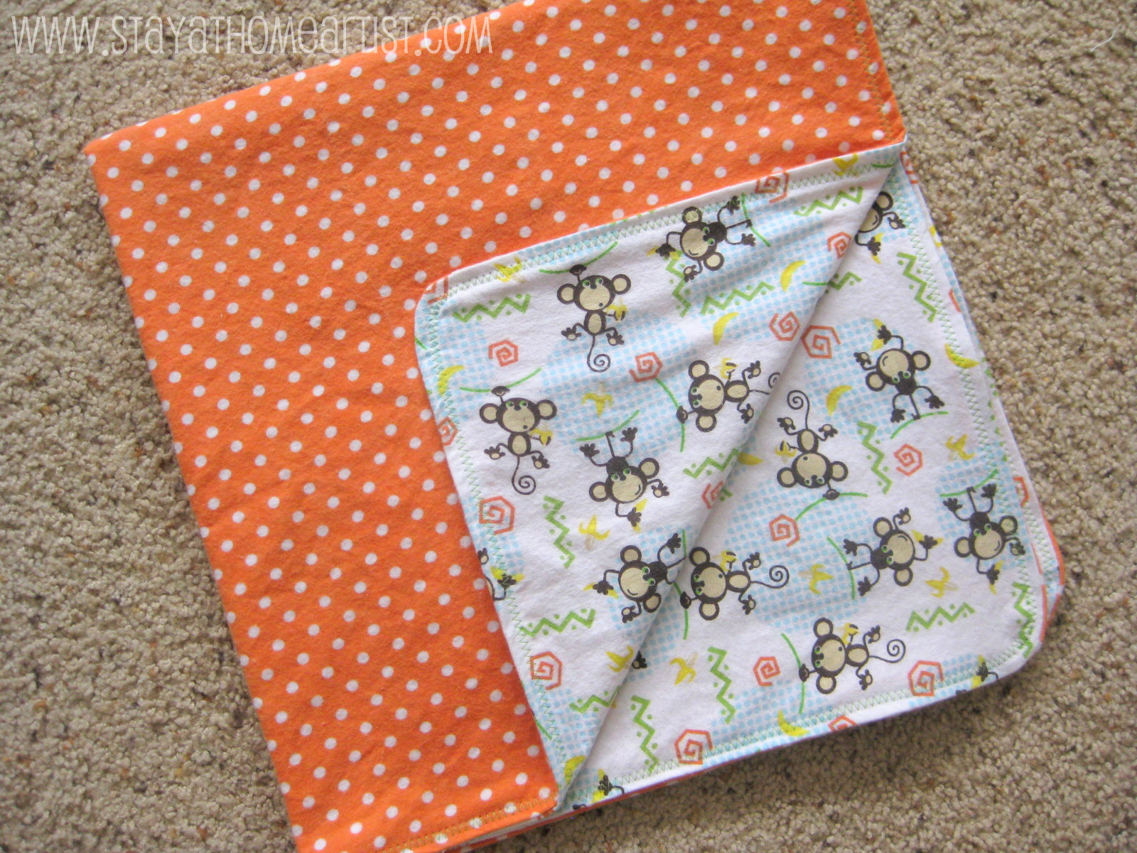 reversible flannel receiving blankets with decorative stitching - Flannel Blanket