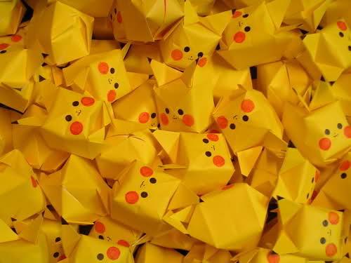 Pikachu Origami!