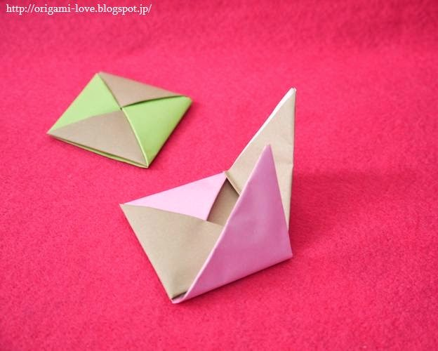 すべての折り紙 折り紙 ひな人形 折り方 : ... ひな人形の座布団の折り方♪