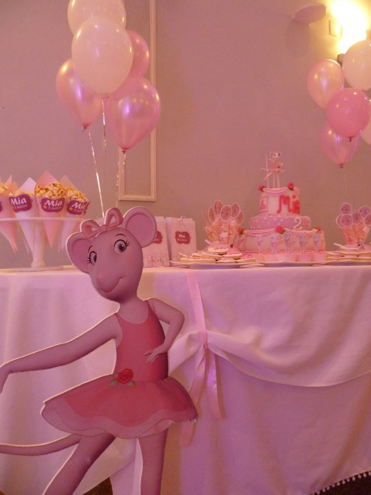 Sweet party box angelina ballerina cumple de mia for Mia decoracion