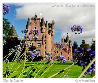 Angus Kirriemuir castle queen mother residence  Hamilton Kerr grounds Scotland