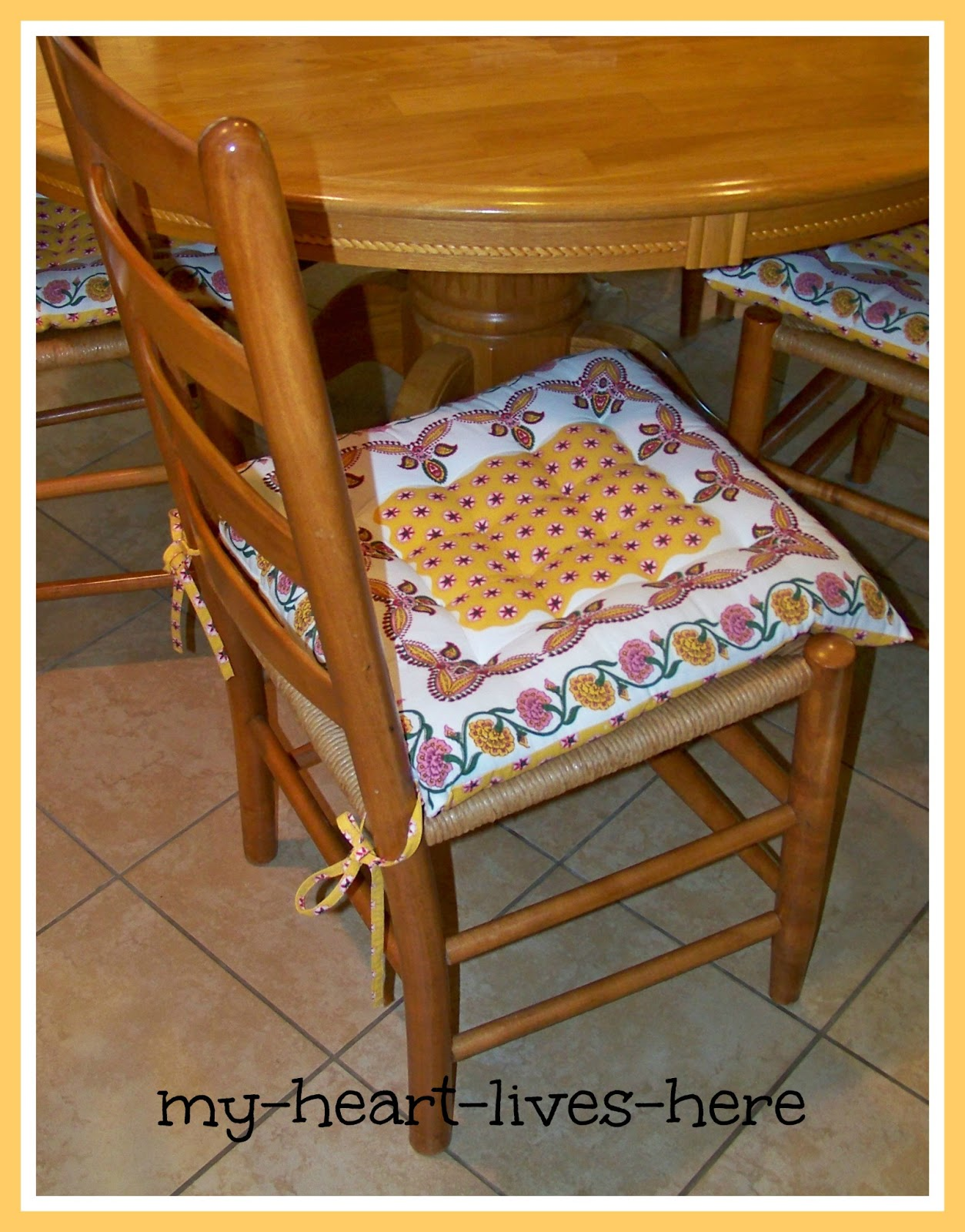 Kitchen Chair Cushions With Ties Uk