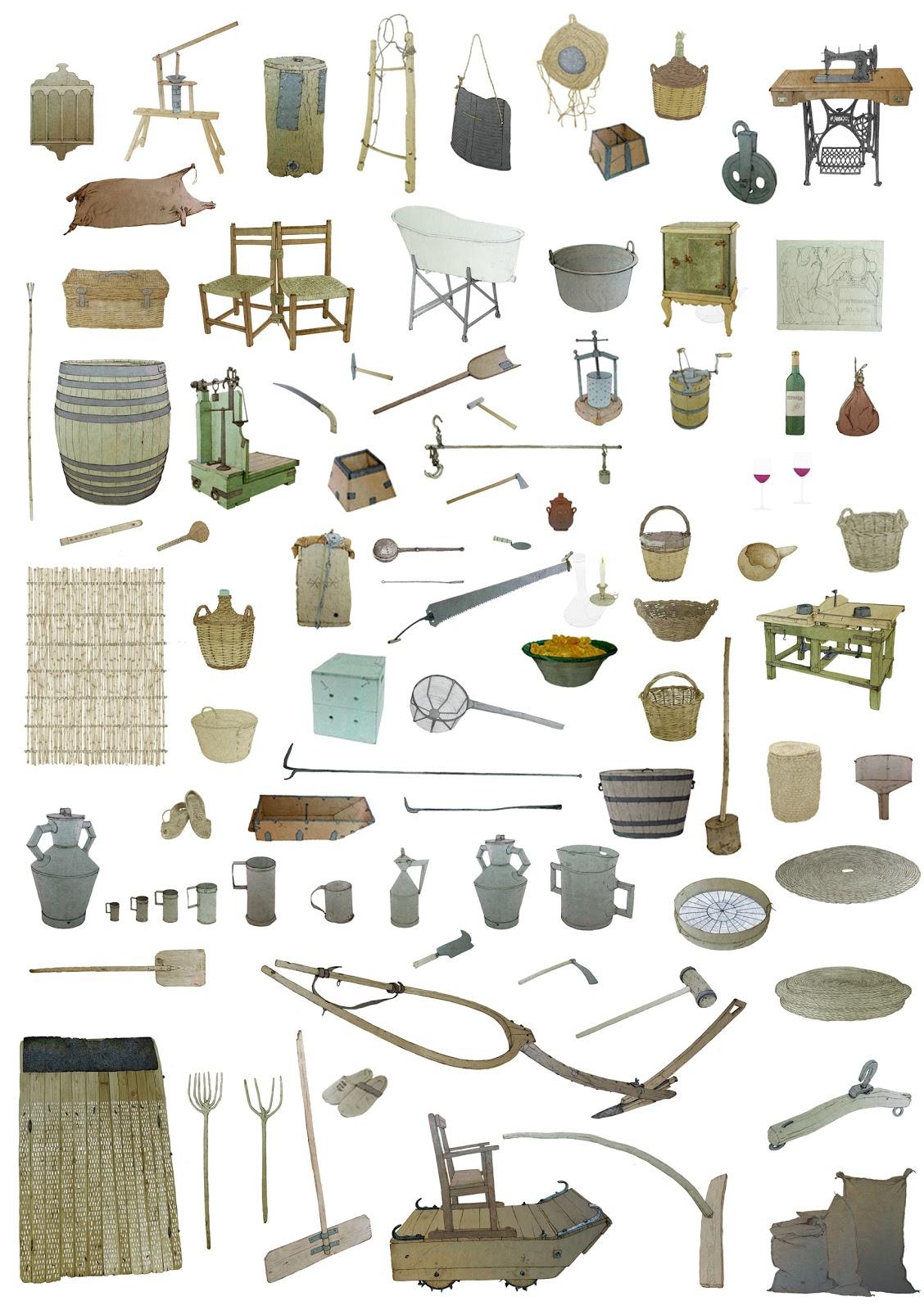 utiles, aperos, y artefactos, cultura popular , secano