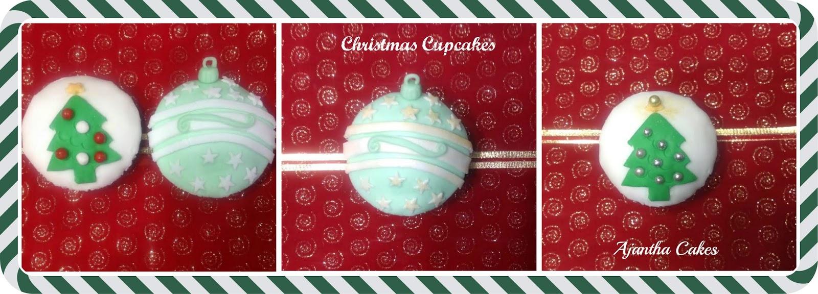 Ajantha Cakes, Christmas cupcakes 2014, Christmas Cakes