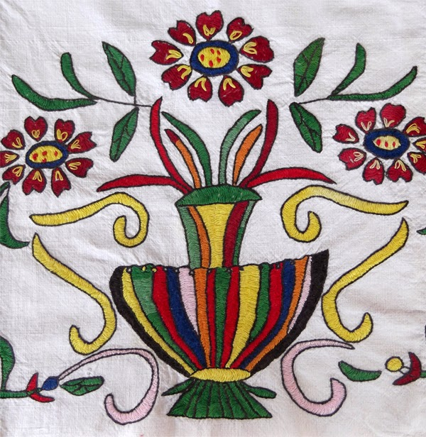 byzantine stitch, cretan stitch, byzantine embroidery, cretan embroidery, greek embroidery