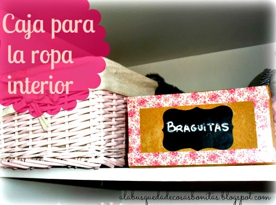 Caja decorada con washitape