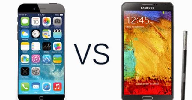 Galaxy Note 4 vs iPhone 6 cuộc đụng độ của những gã khổng lồ