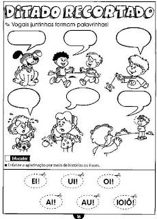 Atividades com encontros vocálicos ou junções de vogais
