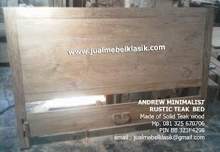 Supplier mebel jati furniture jati dipan solid kayu jati tpk dipan finishing rustic supplier tempat tidur jati minimalise